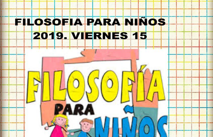 FILÓSOFOS PARA NIÑOS 2019