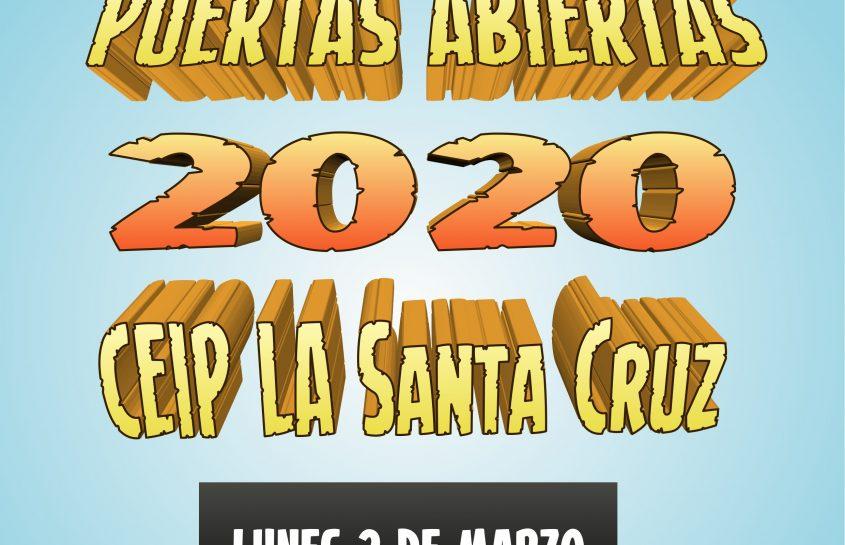 JORNADA PUERTAS ABIERTAS 2020: Lunes 2 de marzo
