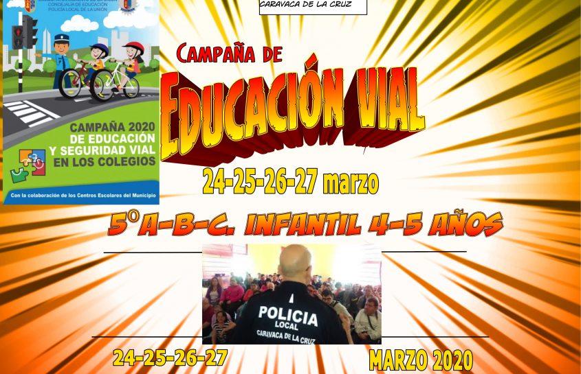 JORNADAS EDUCACIÓN VIAL. 24-25-26-27 marzo 2020