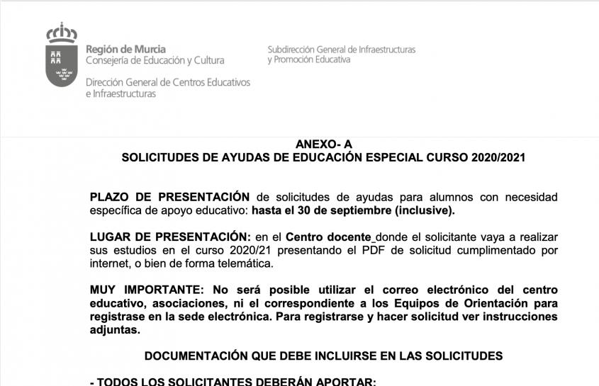 ANEXO  EDUCACIÓN ESPECIAL 2020-2021