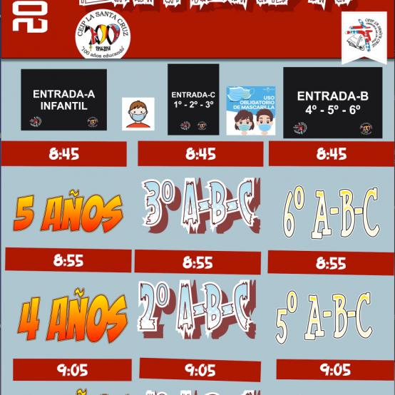 HORARIO ENTRADAS 2020