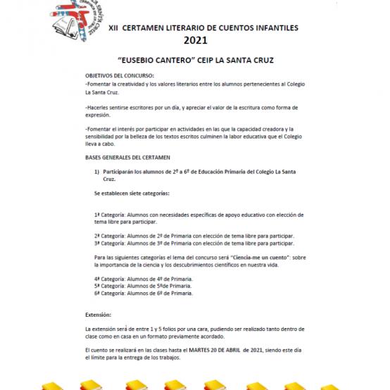 """XII CERTAMEN LITERARIO DE CUENTOS INFANTILES 2021 """"EUSEBIO CANTERO"""""""