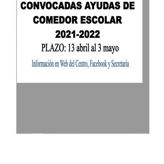 AYUDAS COMEDOR 2021-22